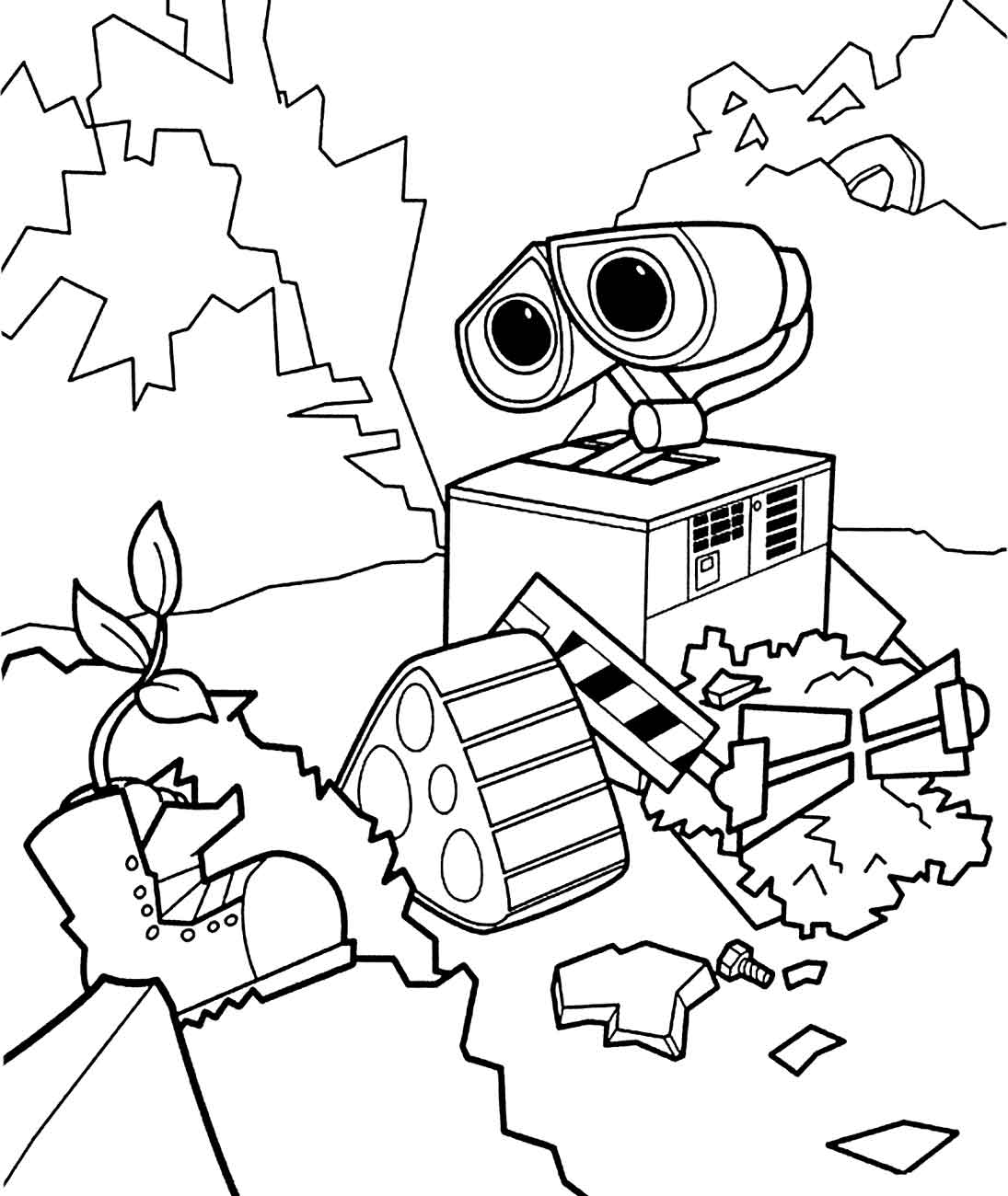 Robot Coloring Pages For Kids 18 Funnycrafts
