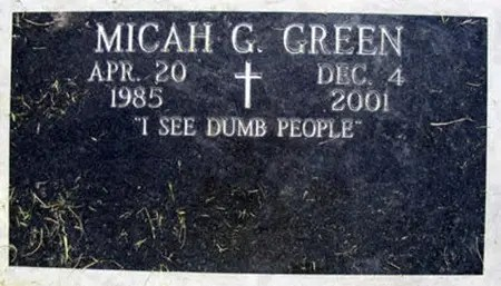 I see dumb people tombstone