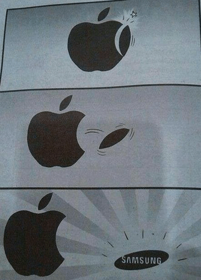 The birth of Samsung from Apple