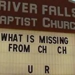 What is missing from church