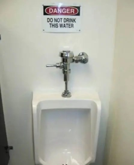 Do no drink this water