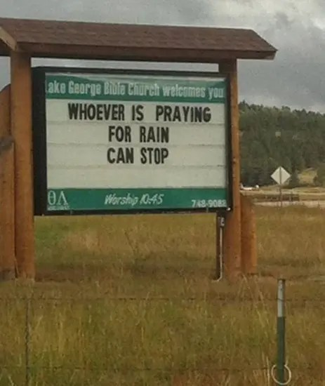 Whoever is praying for rain can stop