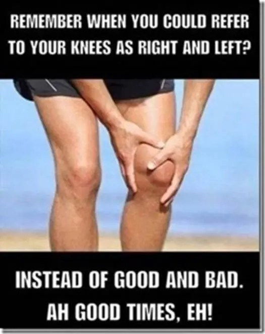 Right and left knees