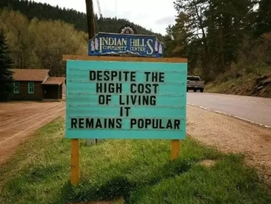 Despite the high cost of living it remains popular