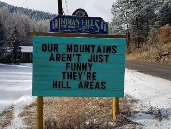 Our mountains aren't just funny, they're hill areas