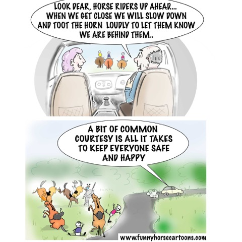 Considerate Driver Cartoon