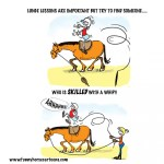 Lunge Exercise Funny Horse Cartoons