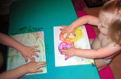 Cornstarch Finger Paint