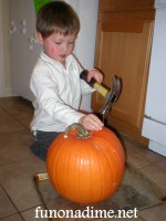 Hammer, Nails and a Pumpkin