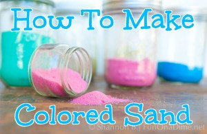 How to make colored sand - salt and chalkhow to make colored sand