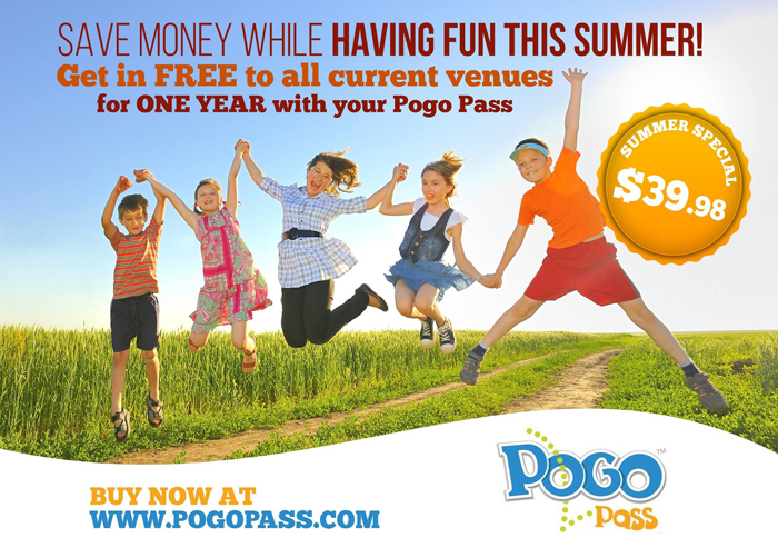 Get a summer of ultimate fun with a Pogo Pass. FREE admission to 17 Phoenix venues for a great price. Use promo code: FUN or this link to purchase your  http://bit.ly/FunOnADimePogoPass