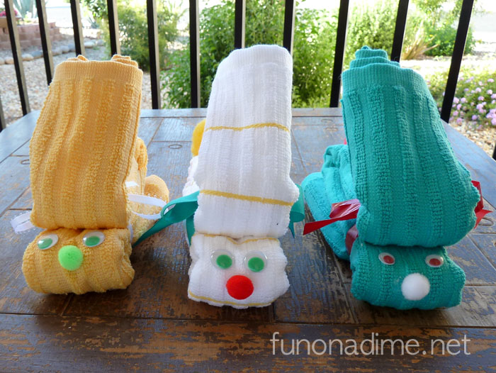 Dishtowel Bunny and Washcloth Bunny Tutorial