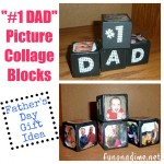 #1 Dad Photo Collage Blocks