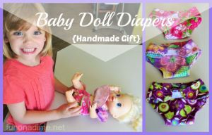 Baby Doll Diapers {handmade gift}