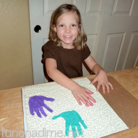 How to make a handprint pillow