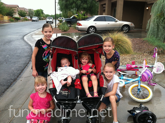 Fun on a dime - family time - stroller