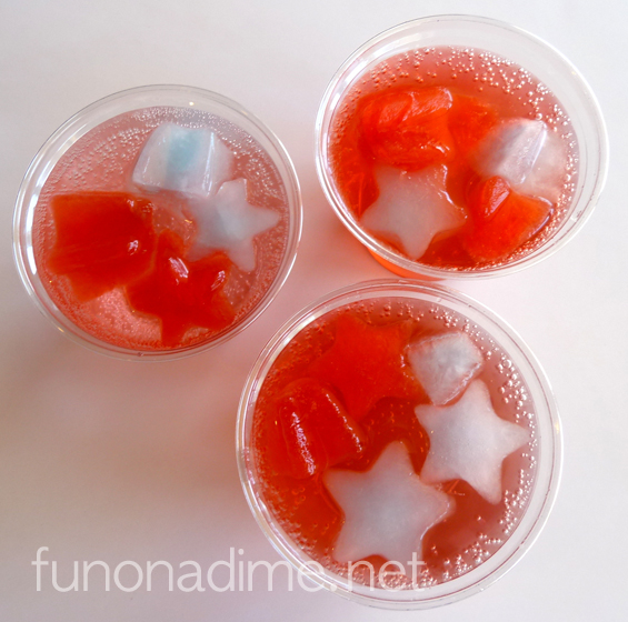 Yummy Patriotic Ice Drink