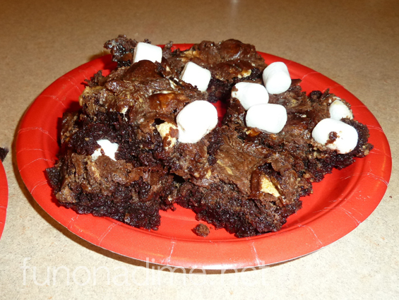 Peanutbutter and marshmallow Rocky Road Brownies