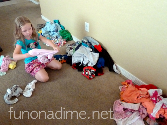 Laundry with children