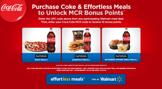 My Coke Rewards and Effortless Meals at Walmart