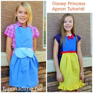 How to make a princess apron - free tutorial