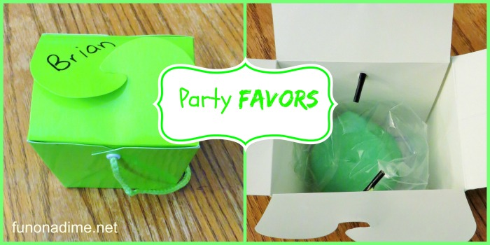 green party theme party favors