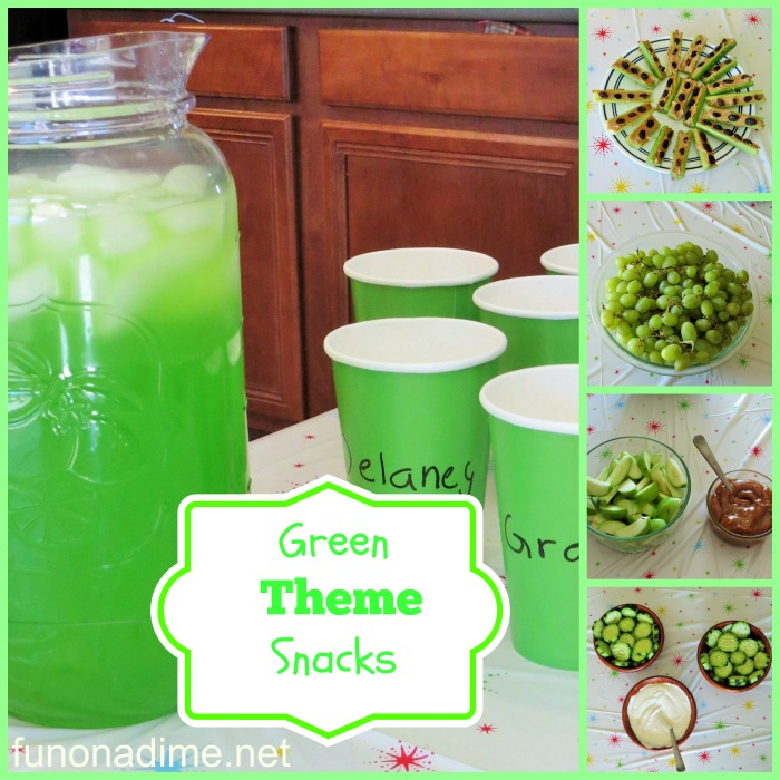 green party theme snacks