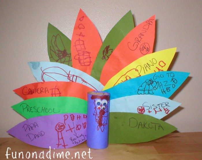 Thanksgiving craft - Thankful Turkeys