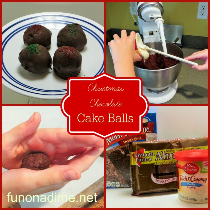 Easy Christmas Chocolate ckae balls