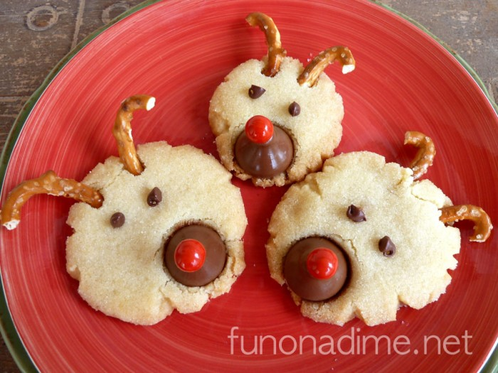 Reindeer Christmas Sugar Cookies