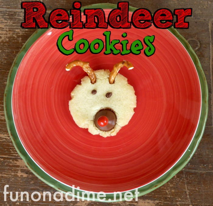 Reindeer Christmas Sugar Cookies- my kiddos loved these and could not get enough of them!