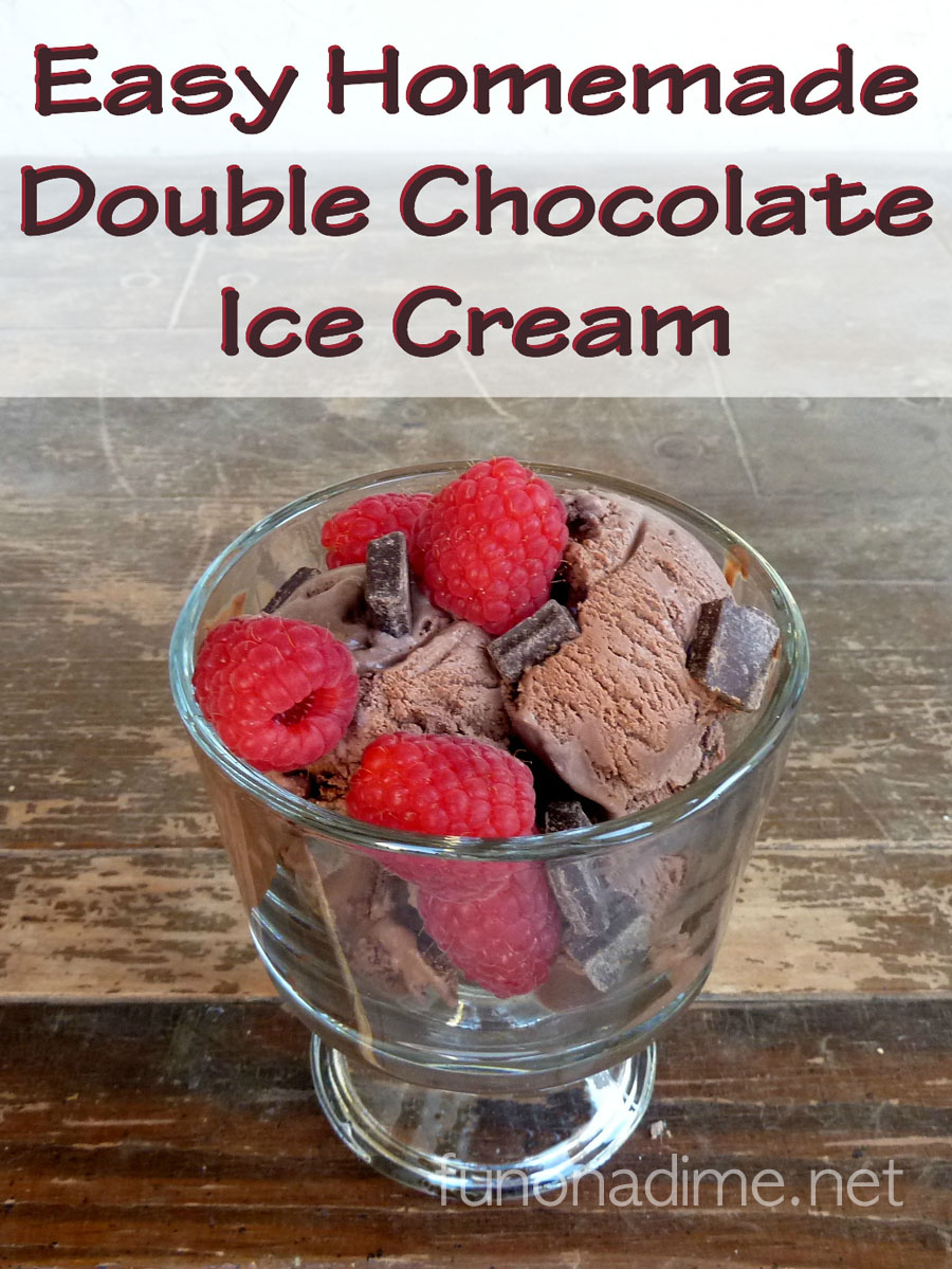 The Best Easy Homemade Double Chocolate Ice Cream