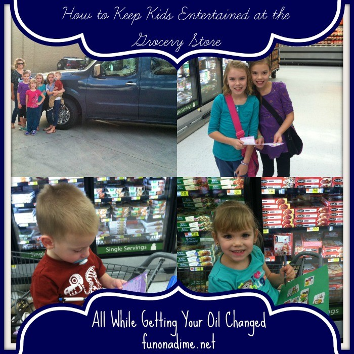 entertain kids at the grocery store