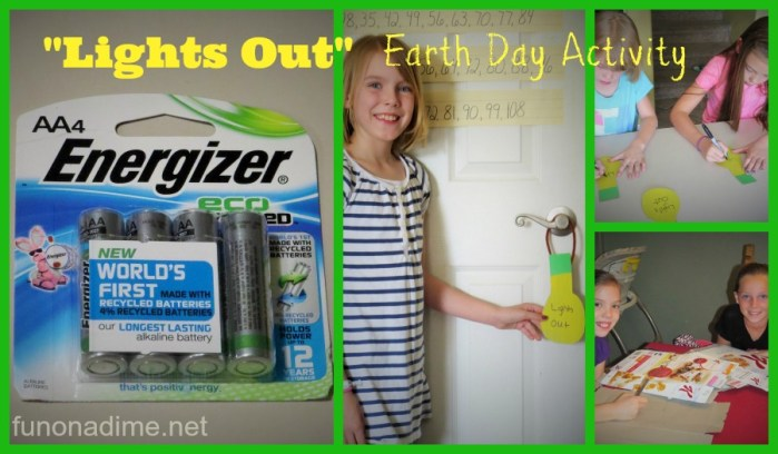 """Lights Out"" Earth Day Activity"