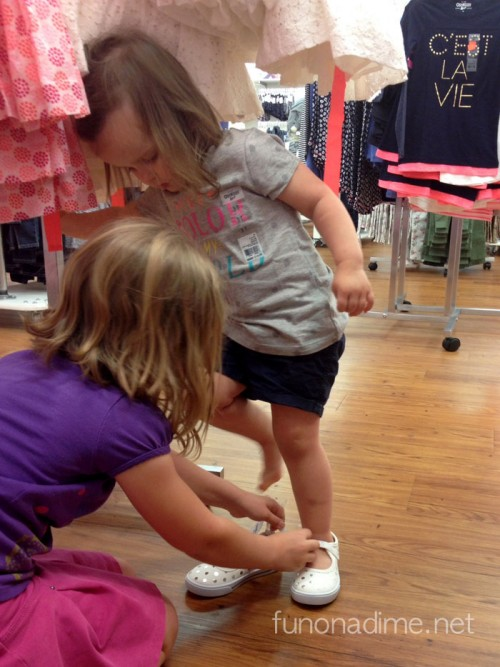 How to shop with toddlers- Oshkosh spring line