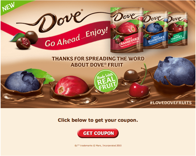 Dove Fruit Coupon