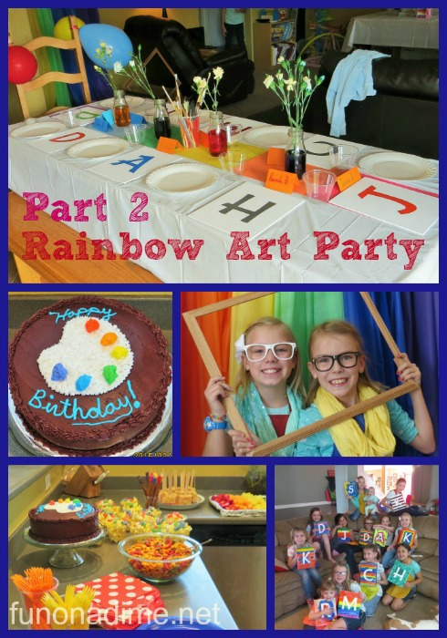 rainbow art party part 2
