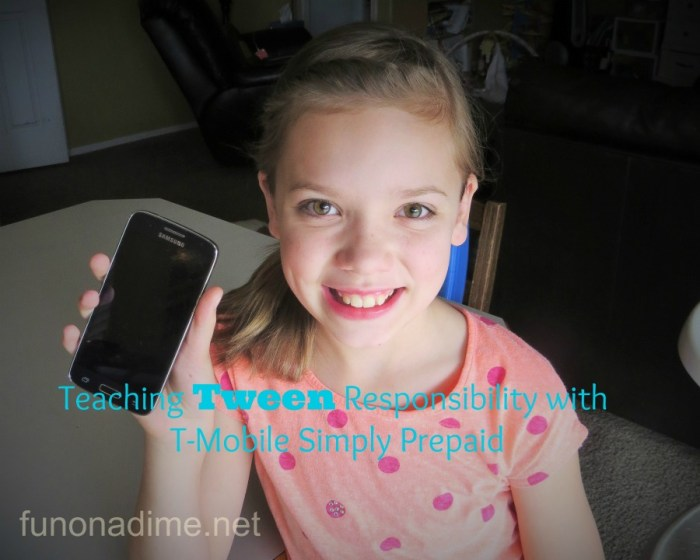 Teaching Tween Responsibility with T-Mobile Simply Prepaid