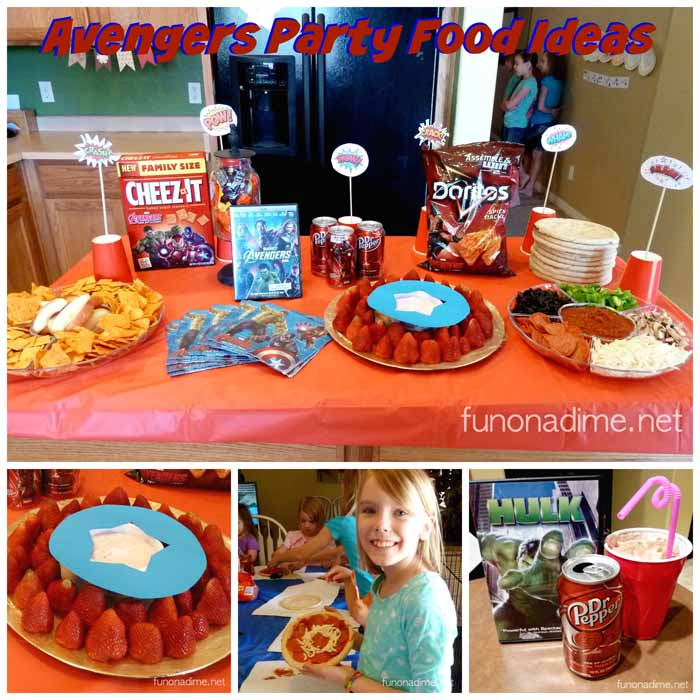 Avengers Party Food Ideas and Decorations Fun On a Dime