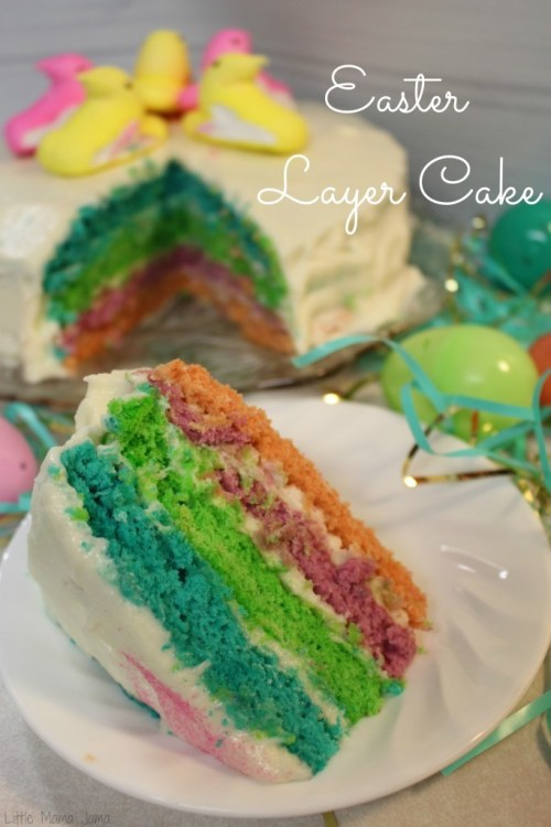 Easy Colorful Layer Cake