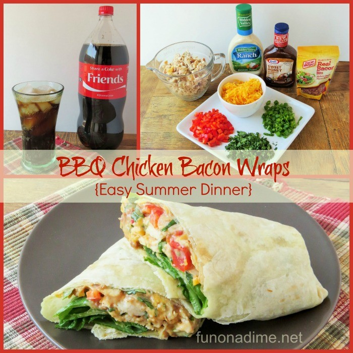 BBQ Chicken Bacon Wraps {easy summer dinner} #EffortlessMeals #Ad