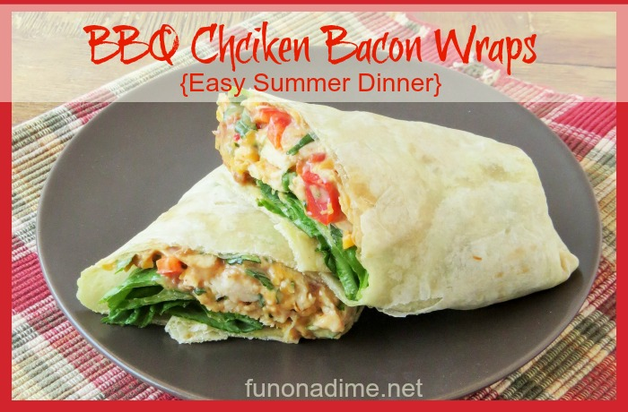 BBQ Chicken Bacon Wraps {Easy Summer Dinner}