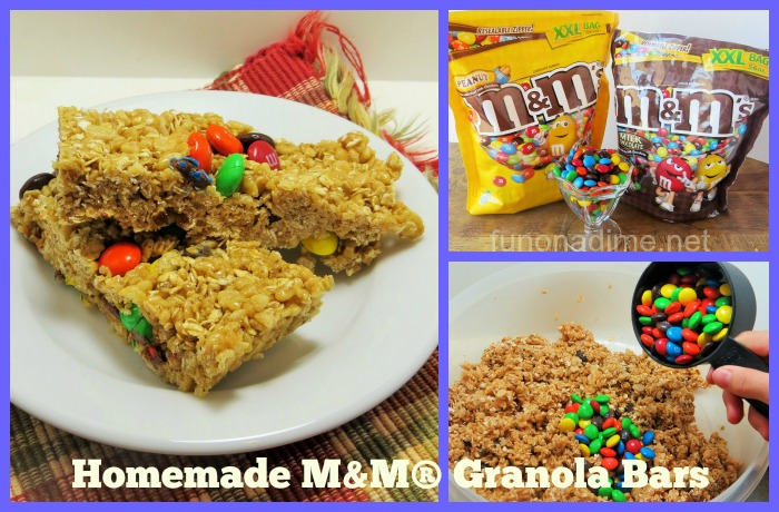 Homemade M&M® Granola Bars #ShareFunshine #Ad