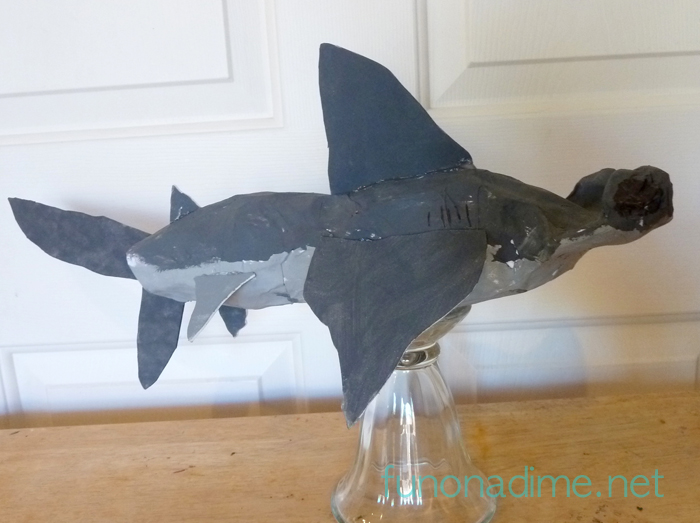 Kid Made Shark Craft - Shark Week Craft