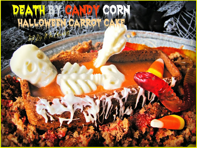 50+ Candy Corn Halloween Inspired Treats and Snacks Candy Corn Halloween Carrot Cake