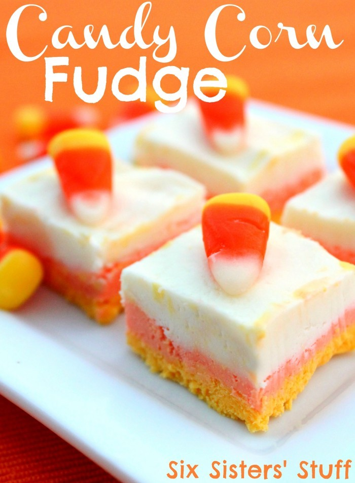 50+ Candy Corn Halloween Inspired Treats and Snacks Candy Corn Fudge