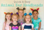 Quick and Easy Animal Ear Headbands