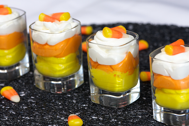 50+ Candy Corn Halloween Inspired Treats and Snacks pudding