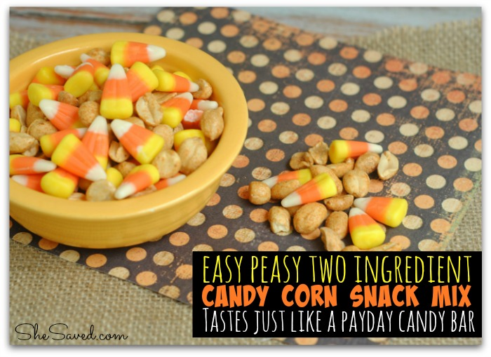 50+ Candy Corn Halloween Inspired Treats and Snacks - payday snack mix