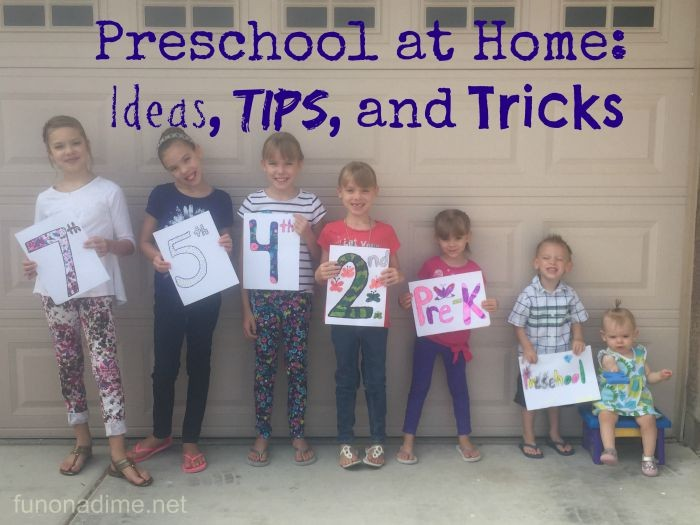 Preschool at Home Ideas, Tips and Tricks